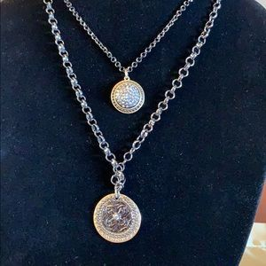 Chico's Two Medallion Necklace